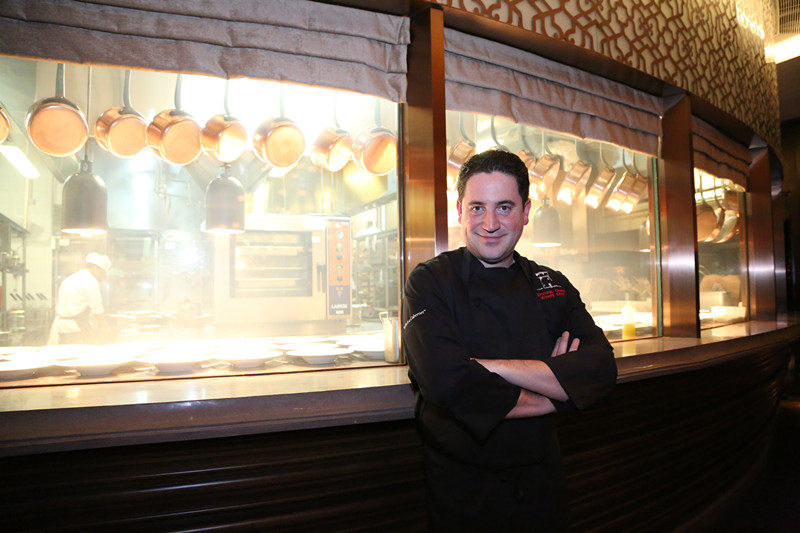 Chef Dominic in front of Terrazza's kitchen